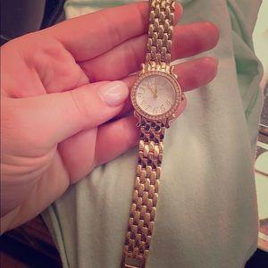 Betsey Johnson Gold Bracelet/Watch